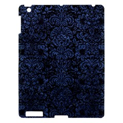 Damask2 Black Marble & Blue Stone Apple Ipad 3/4 Hardshell Case by trendistuff