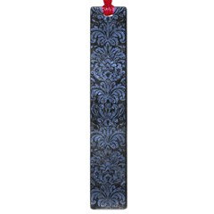 Damask2 Black Marble & Blue Stone Large Book Mark by trendistuff