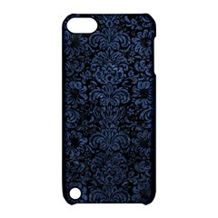 Damask2 Black Marble & Blue Stone Apple Ipod Touch 5 Hardshell Case With Stand by trendistuff
