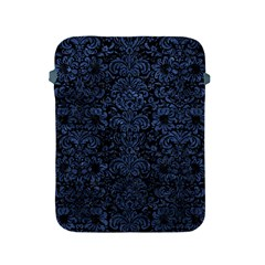 Damask2 Black Marble & Blue Stone Apple Ipad 2/3/4 Protective Soft Case by trendistuff