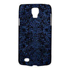 Damask2 Black Marble & Blue Stone Samsung Galaxy S4 Active (i9295) Hardshell Case by trendistuff