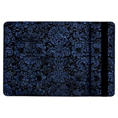 Damask2 Black Marble & Blue Stone Apple Ipad Air Flip Case by trendistuff