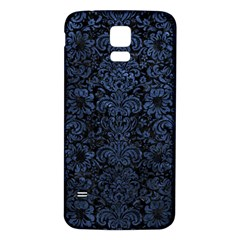 Damask2 Black Marble & Blue Stone Samsung Galaxy S5 Back Case (white) by trendistuff