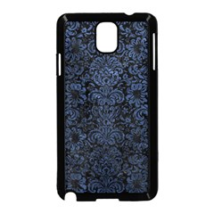 Damask2 Black Marble & Blue Stone Samsung Galaxy Note 3 Neo Hardshell Case (black) by trendistuff