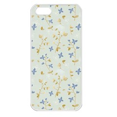 Vintage Hand Drawn Floral Background Apple Iphone 5 Seamless Case (white) by TastefulDesigns