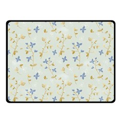 Vintage Hand Drawn Floral Background Double Sided Fleece Blanket (small)  by TastefulDesigns