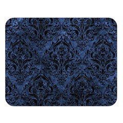 Damask1 Black Marble & Blue Stone (r) Double Sided Flano Blanket (large) by trendistuff