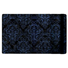 Damask1 Black Marble & Blue Stone Apple Ipad 3/4 Flip Case by trendistuff