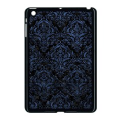 Damask1 Black Marble & Blue Stone Apple Ipad Mini Case (black) by trendistuff