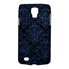 Damask1 Black Marble & Blue Stone Samsung Galaxy S4 Active (i9295) Hardshell Case by trendistuff