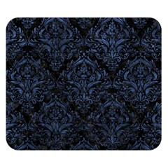 Damask1 Black Marble & Blue Stone Double Sided Flano Blanket (small) by trendistuff