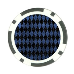 Diamond1 Black Marble & Blue Stone Poker Chip Card Guard (10 Pack) by trendistuff