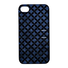 Circles3 Black Marble & Blue Stone (r) Apple Iphone 4/4s Hardshell Case With Stand by trendistuff
