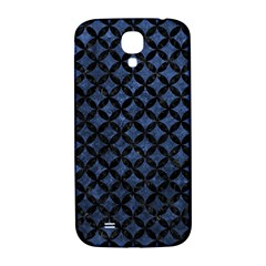 Circles3 Black Marble & Blue Stone (r) Samsung Galaxy S4 I9500/i9505  Hardshell Back Case by trendistuff