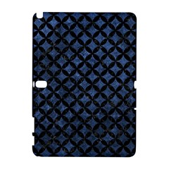 Circles3 Black Marble & Blue Stone (r) Samsung Galaxy Note 10 1 (p600) Hardshell Case by trendistuff