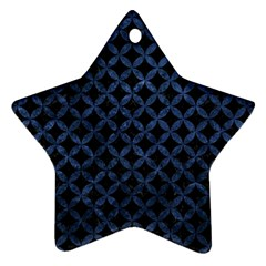 Circles3 Black Marble & Blue Stone Star Ornament (two Sides) by trendistuff
