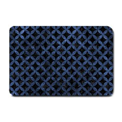 Circles3 Black Marble & Blue Stone Small Doormat by trendistuff