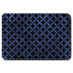 Circles3 Black Marble & Blue Stone Large Doormat by trendistuff