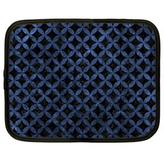 Circles3 Black Marble & Blue Stone Netbook Case (xxl) by trendistuff