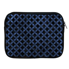 Circles3 Black Marble & Blue Stone Apple Ipad Zipper Case by trendistuff