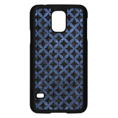 Circles3 Black Marble & Blue Stone Samsung Galaxy S5 Case (black) by trendistuff