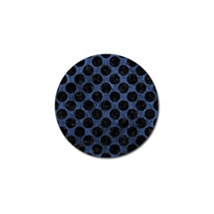 Circles2 Black Marble & Blue Stone (r) Golf Ball Marker (4 Pack) by trendistuff