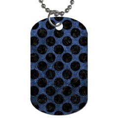 Circles2 Black Marble & Blue Stone (r) Dog Tag (two Sides) by trendistuff