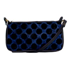 Circles2 Black Marble & Blue Stone (r) Shoulder Clutch Bag by trendistuff