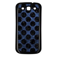 Circles2 Black Marble & Blue Stone (r) Samsung Galaxy S3 Back Case (black) by trendistuff