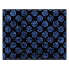 Circles2 Black Marble & Blue Stone Jigsaw Puzzle (rectangular) by trendistuff