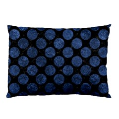 Circles2 Black Marble & Blue Stone Pillow Case by trendistuff