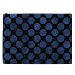 Circles2 Black Marble & Blue Stone Cosmetic Bag (xxl) by trendistuff