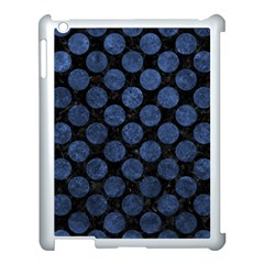 Circles2 Black Marble & Blue Stone Apple Ipad 3/4 Case (white) by trendistuff