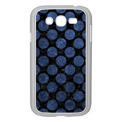 Circles2 Black Marble & Blue Stone Samsung Galaxy Grand Duos I9082 Case (white) by trendistuff