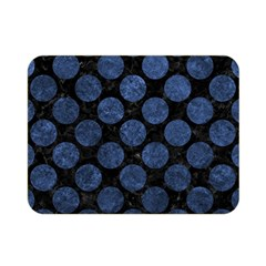 Circles2 Black Marble & Blue Stone Double Sided Flano Blanket (mini) by trendistuff