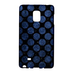Circles2 Black Marble & Blue Stone Samsung Galaxy Note Edge Hardshell Case by trendistuff
