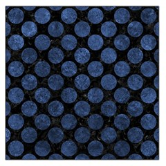Circles2 Black Marble & Blue Stone Large Satin Scarf (square) by trendistuff