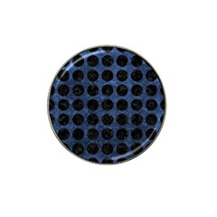 Circles1 Black Marble & Blue Stone (r) Hat Clip Ball Marker (10 Pack) by trendistuff