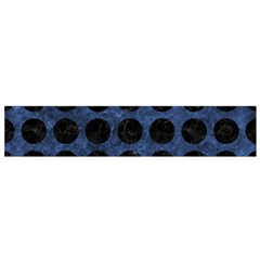 Circles1 Black Marble & Blue Stone (r) Flano Scarf (small) by trendistuff
