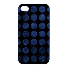 Circles1 Black Marble & Blue Stone Apple Iphone 4/4s Hardshell Case by trendistuff