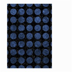 Circles1 Black Marble & Blue Stone Small Garden Flag (two Sides) by trendistuff