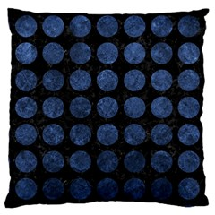 Circles1 Black Marble & Blue Stone Large Cushion Case (two Sides) by trendistuff