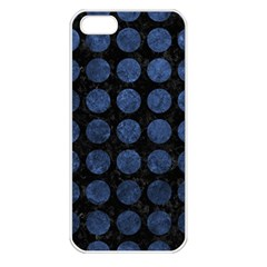 Circles1 Black Marble & Blue Stone Apple Iphone 5 Seamless Case (white) by trendistuff