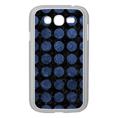 Circles1 Black Marble & Blue Stone Samsung Galaxy Grand Duos I9082 Case (white) by trendistuff