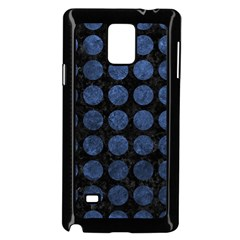Circles1 Black Marble & Blue Stone Samsung Galaxy Note 4 Case (black) by trendistuff