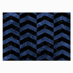 Chevron2 Black Marble & Blue Stone Large Glasses Cloth by trendistuff