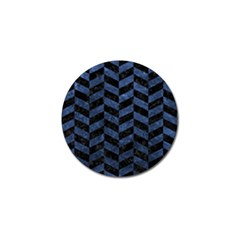 Chevron1 Black Marble & Blue Stone Golf Ball Marker (10 Pack) by trendistuff