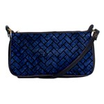 BRICK2 BLACK MARBLE & BLUE STONE (R) Shoulder Clutch Bag Front