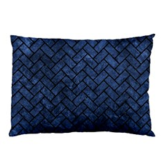 Brick2 Black Marble & Blue Stone (r) Pillow Case (two Sides) by trendistuff
