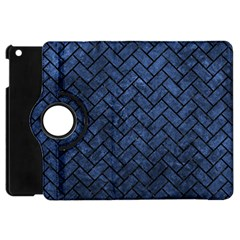 Brick2 Black Marble & Blue Stone (r) Apple Ipad Mini Flip 360 Case by trendistuff